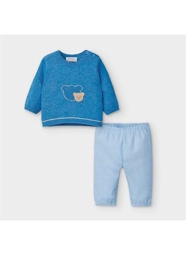 Mayoral Mayoral Yenidoðan Erkek Bebek Kazak Pantolon Set Mavi